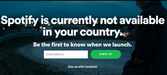spotify не доступен для вашего региона